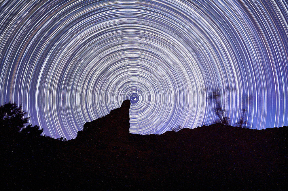 The other startrail I was capturing. It turns out my camera was not eaten by coyotes.