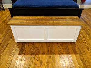 Bed End Storage Bench made from Reclaimed Pine