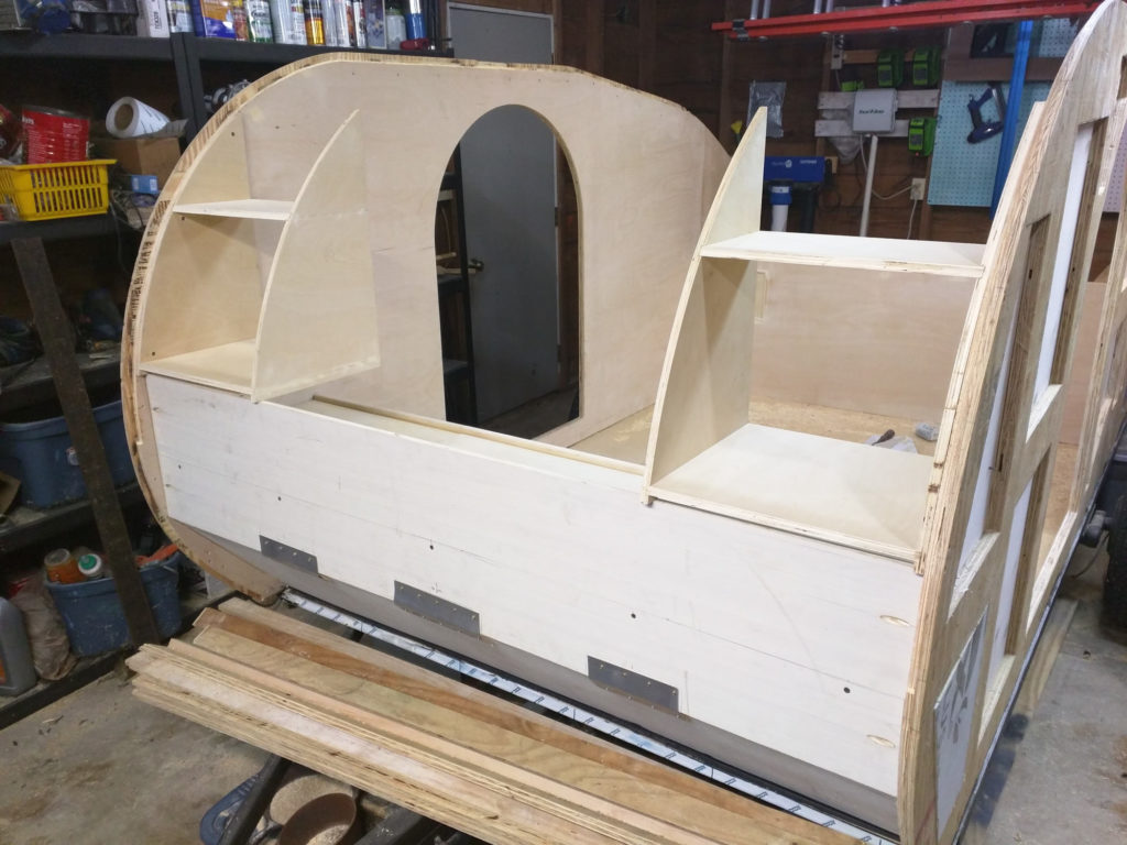 Teardrop Camper - Front Cabinets - Contoured to Shape