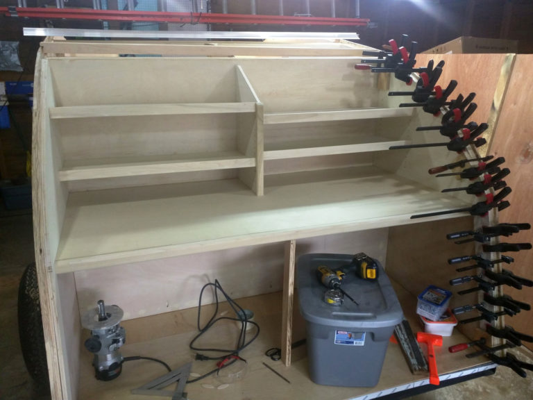 Teardrop - Galley and Upper Cabinets - 004