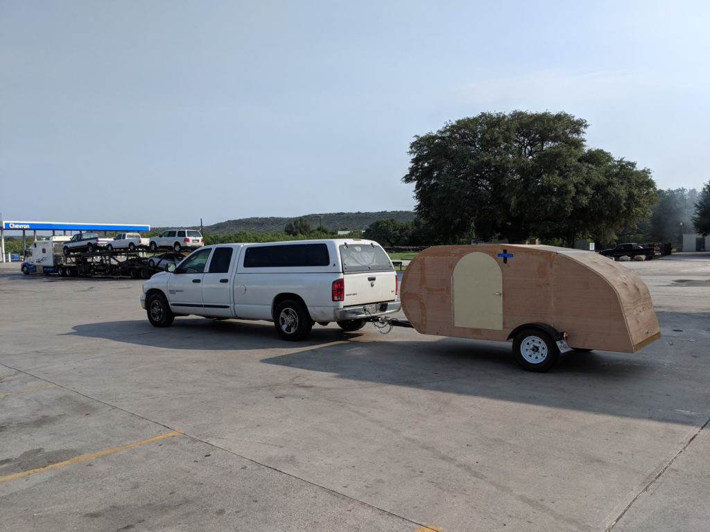 DIY Teardrop Camper - Move Day - Towing Across Country behind a Dodge Ram 2500