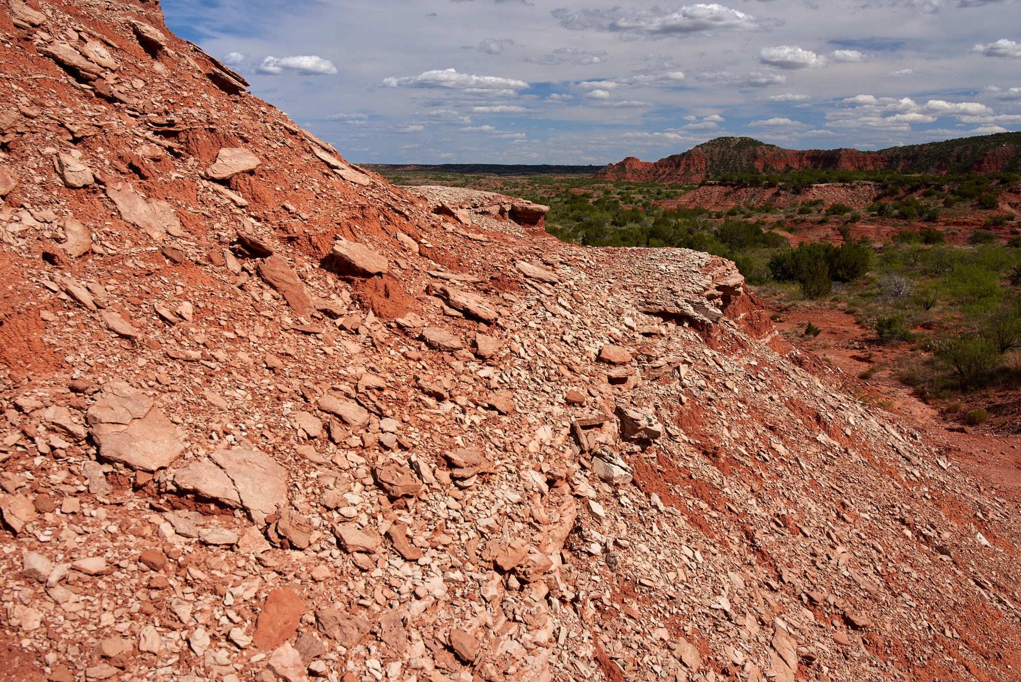 Caprock Canyon - Summer Day - Details of Red Sandstone