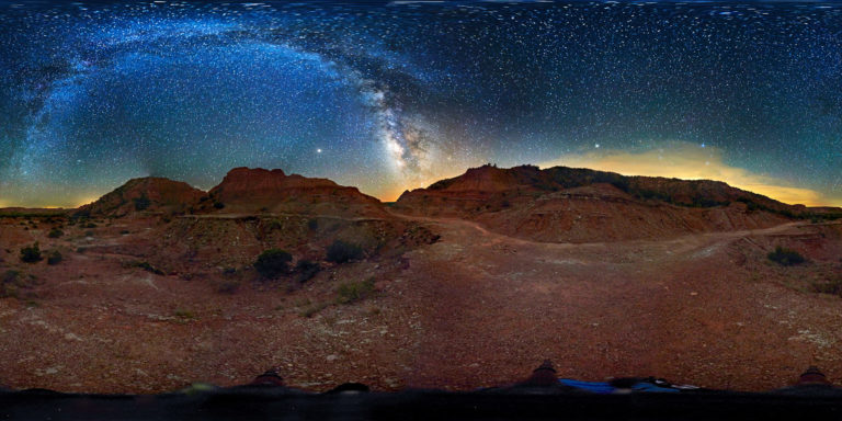 Caprock Canyon Milky Way Panorama Created with Hugin