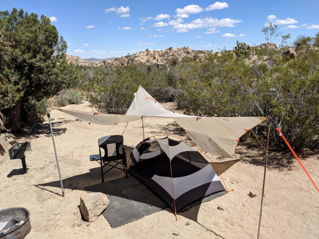 My campsite at Jumbo Rocks Campground in Joshua Tree National Park