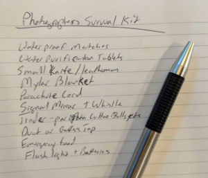 Photographers Survival Kit - Brainstorming Ideas