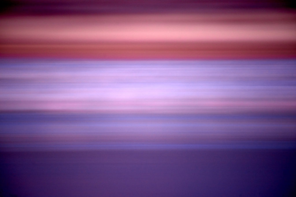 An abstract image made from predawn light and sleeping cranes.