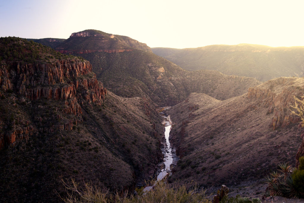 Salt River Canyon at sunset from about half way up the switch back road.