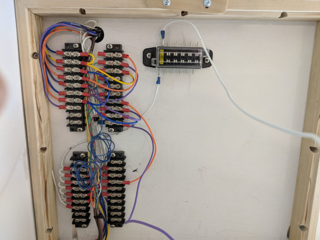 Teardrop Trailer Wiring Panel