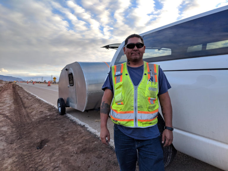 Tim from NMDot helping me out to hook up the trailer again.