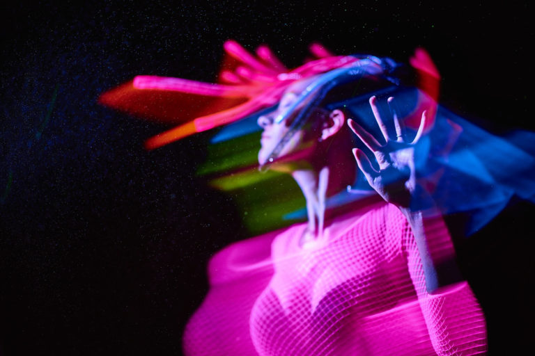 A photo from a black light rave soaked shoot we did a few years back.