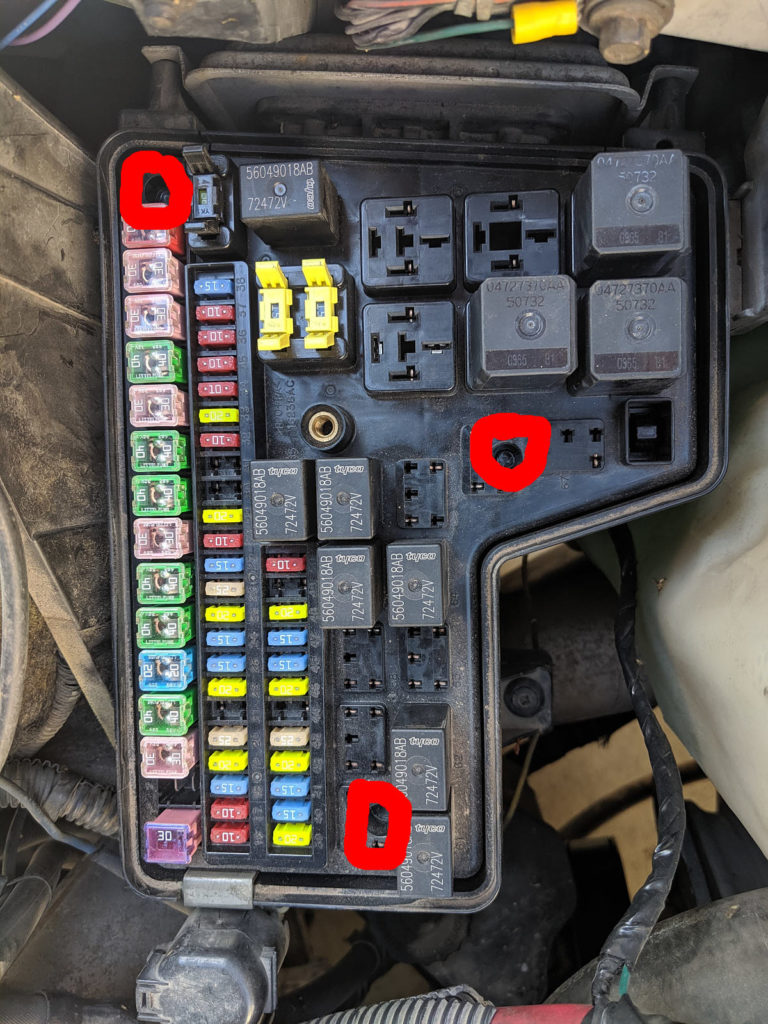 2005 Dodge Ram Fuse Box disassembly - Plastic Weld Locations